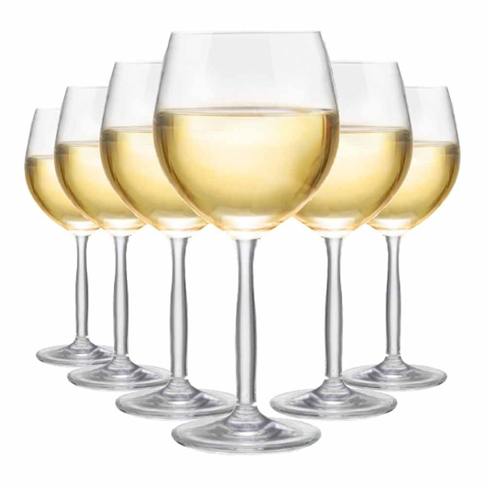 Taça de Vinho Branco de Cristal Bordeaux Branco 380ml 6 Pcs