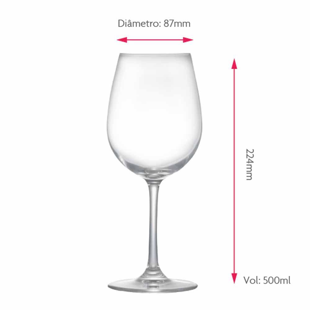 Jogo de Taças Vinho Branco Sensation Cristal 500ml 6 Pcs