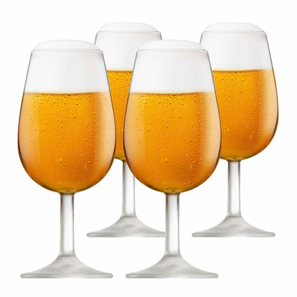Jogo de Taças Vinho ISO Bourbon Degustação Vidro 210ml 4 Pcs