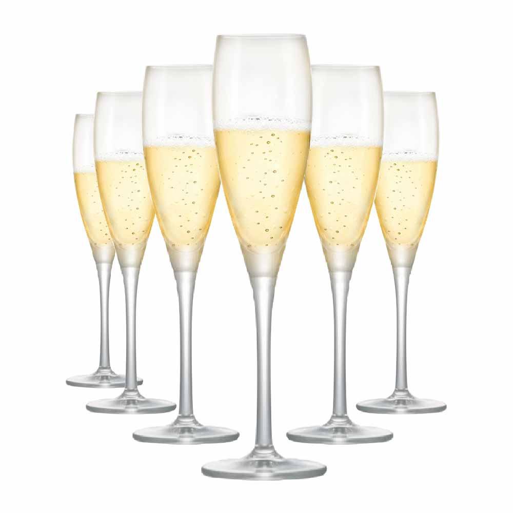Taça de Vinho Proseco de Cristal  135ml 6 Pcs