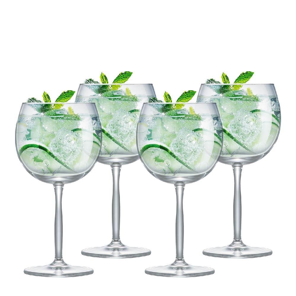 Taça  de Gin de Cristal 550ml 4 Pcs