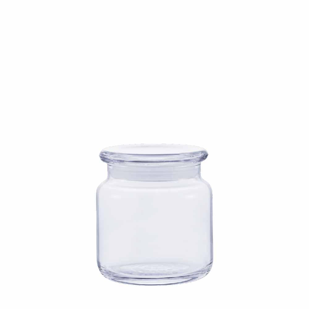 Pote de Vidro com Tampa de Vidro Hermético Ruvolo P