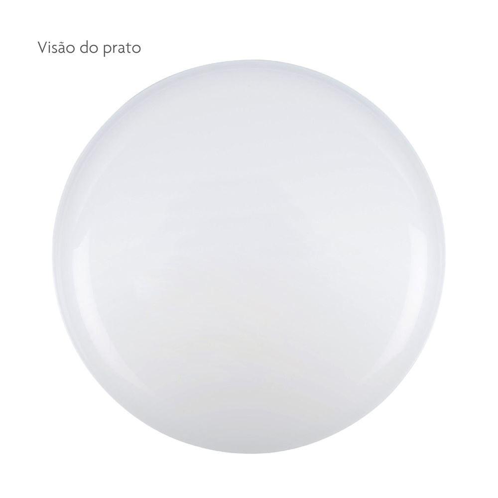 Prato de Vidro Opaline Branco White Multiuso Ruvolo