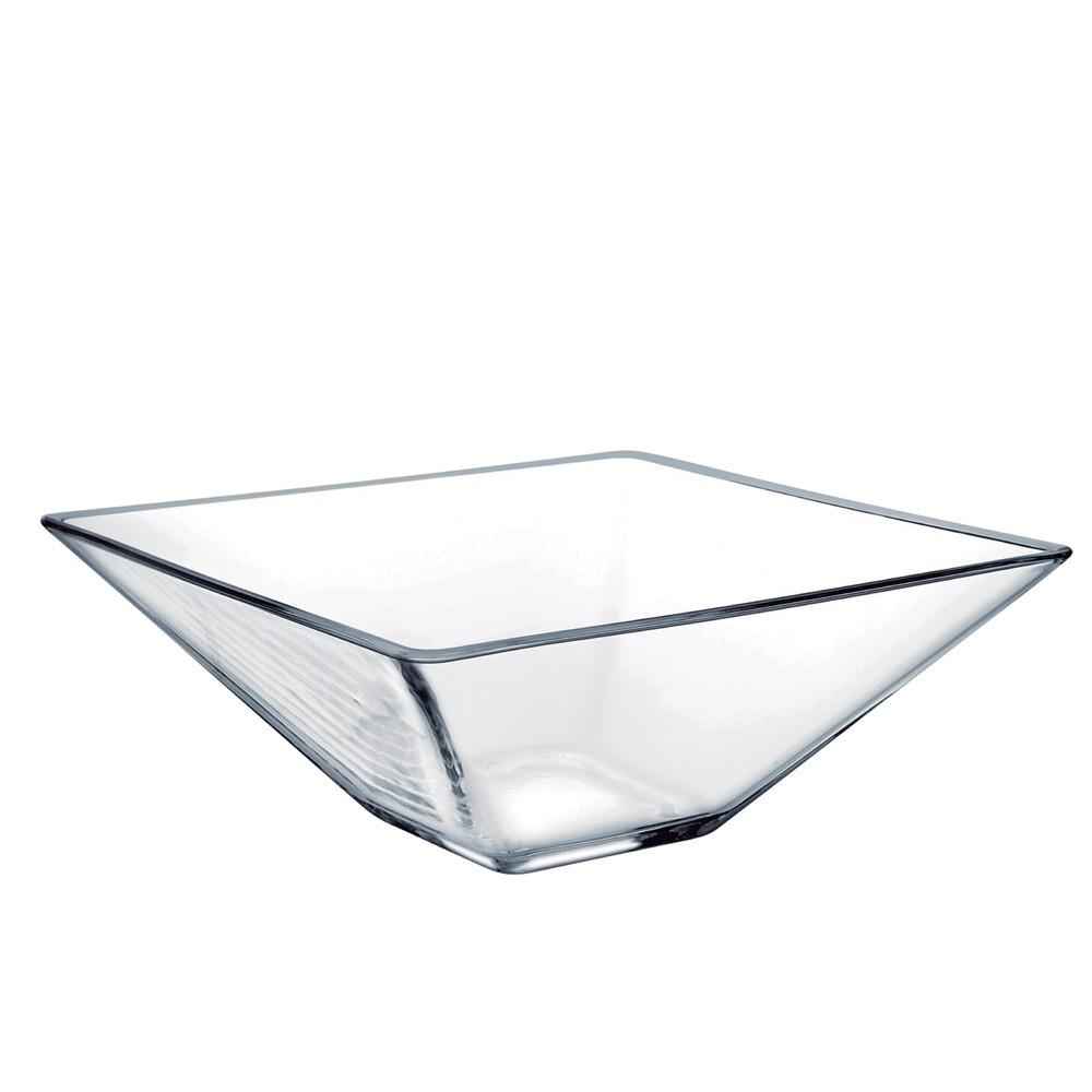 Saladeira Quadrada de Vidro Milão M Vidro 1240ml Ruvolo