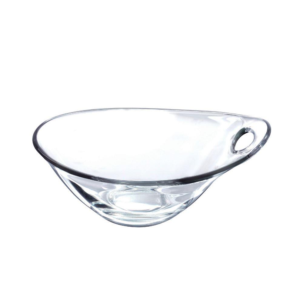 Saladeira Redonda de Vidro Parma Vidro Grande Ruvolo 5 Pcs