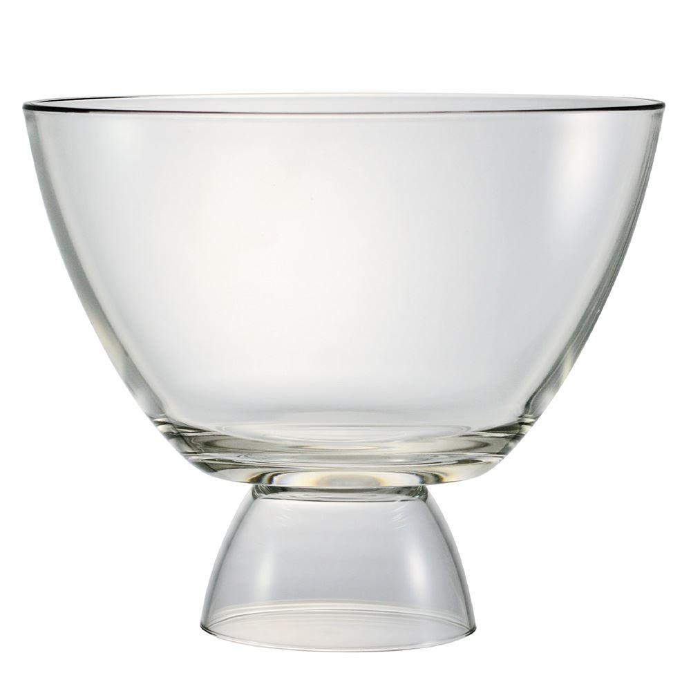 Saladeira Vidro Redonda Reggio Gg com Pé Vidro 5200ml Ruvolo