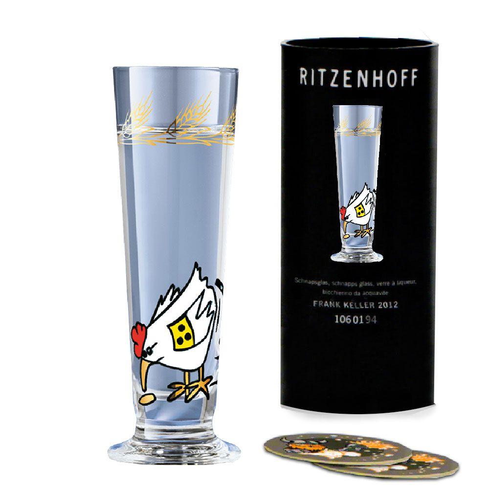 Taça de Schnapps Cristal Ritzenhoff Glass Gernot Gunga 2004 40ml