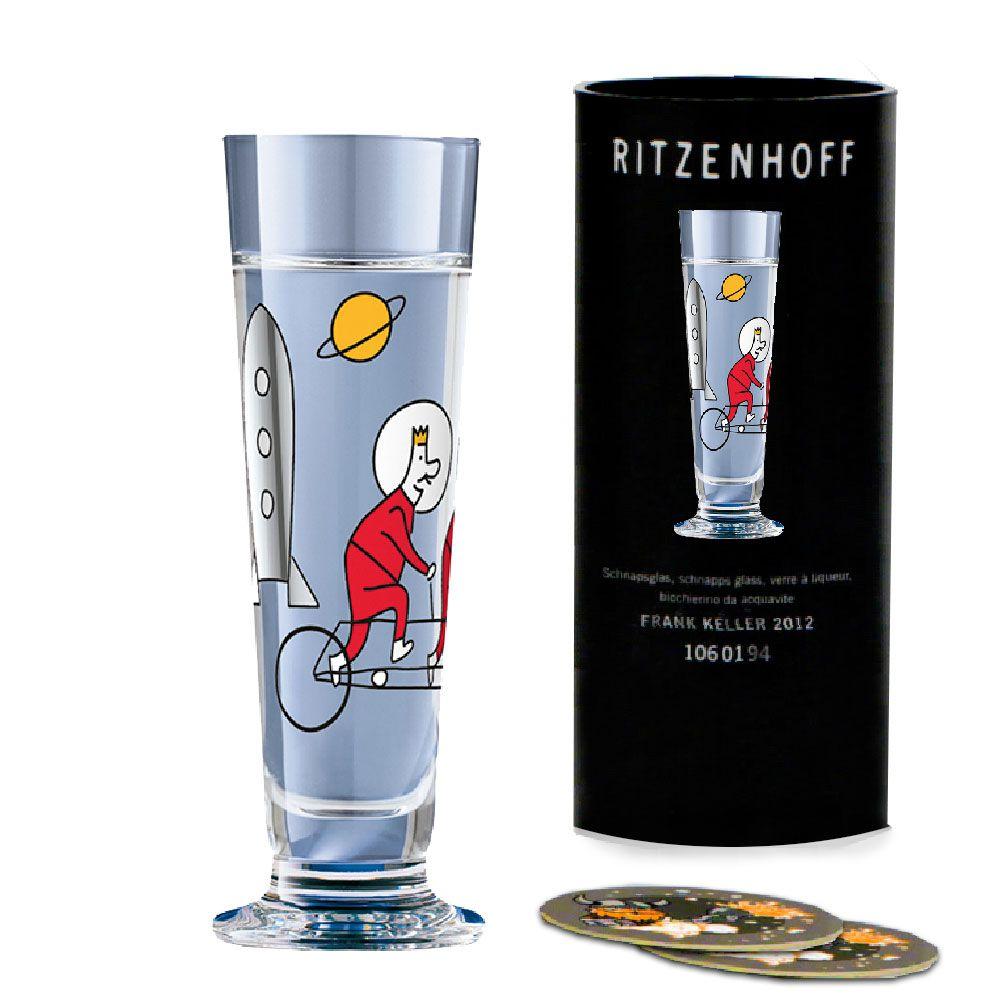 Taça de Schnapps Cristal Ritzenhoff Glass Robert Wilson 2012 40ml
