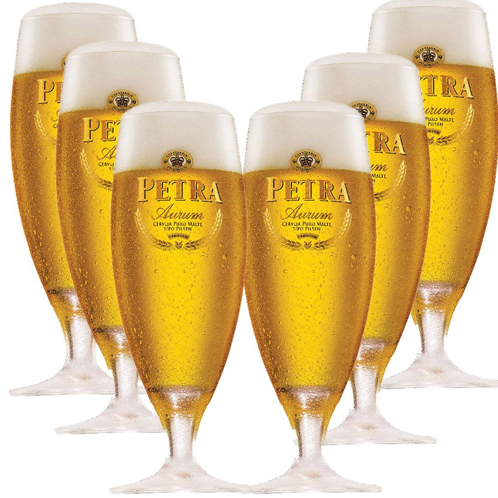 Taça Cerveja - Copo Cerveja Petra Aurum De 300ml C/ 6 Unid