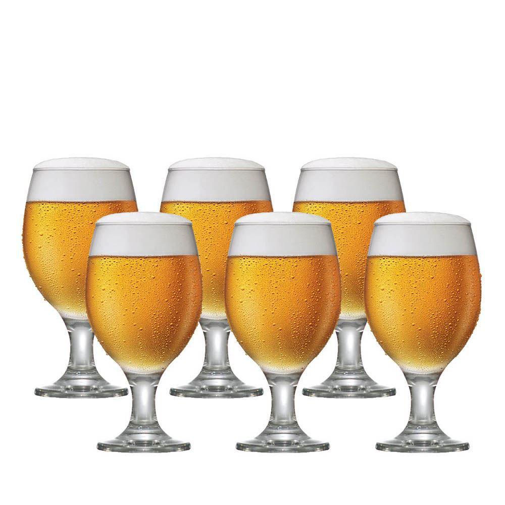 Taça Cerveja - Jogo Conjunto Copo Tulipa Kit Roma 6 Pcs