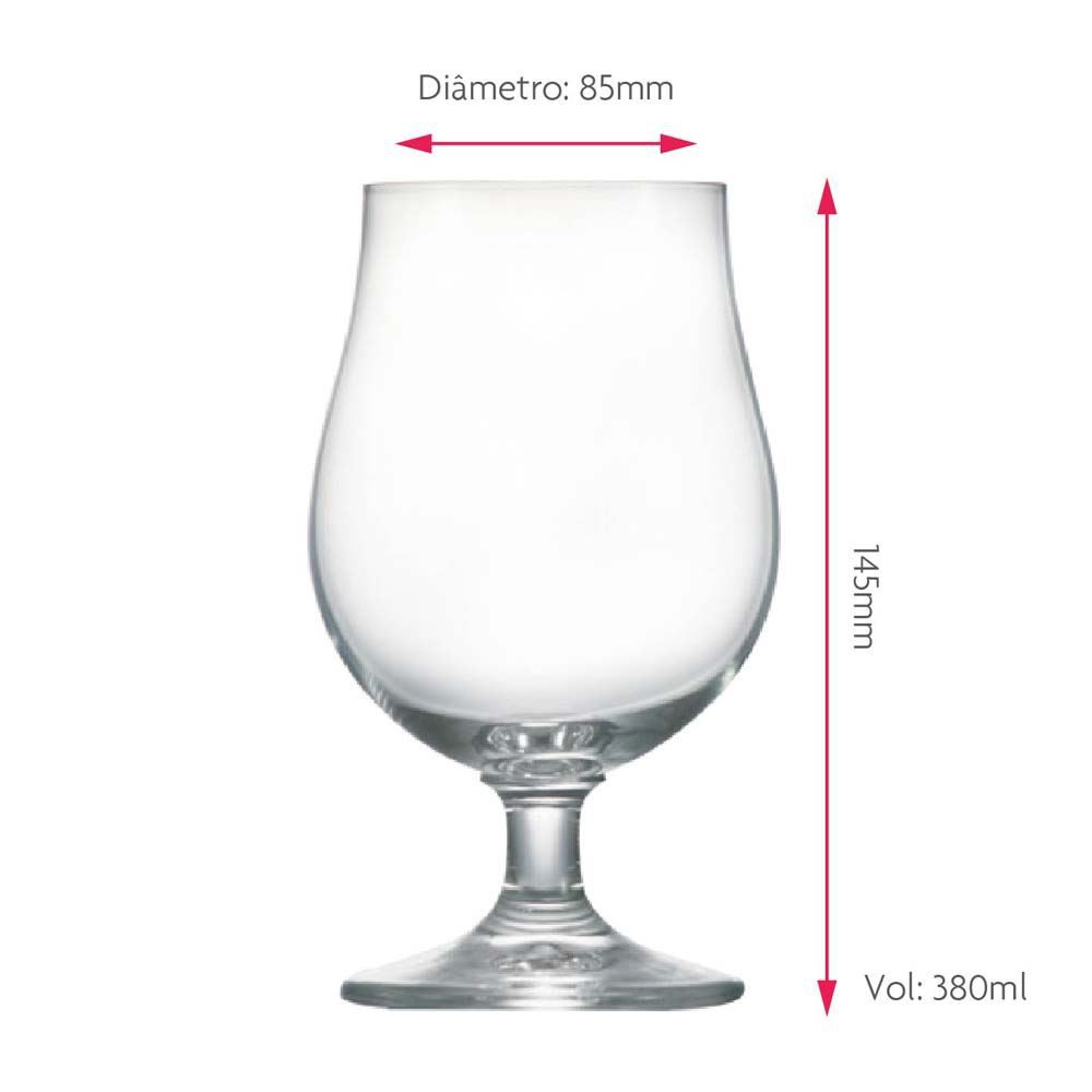 Taça de Cerveja Baden Baden Bock Cristal 380ml