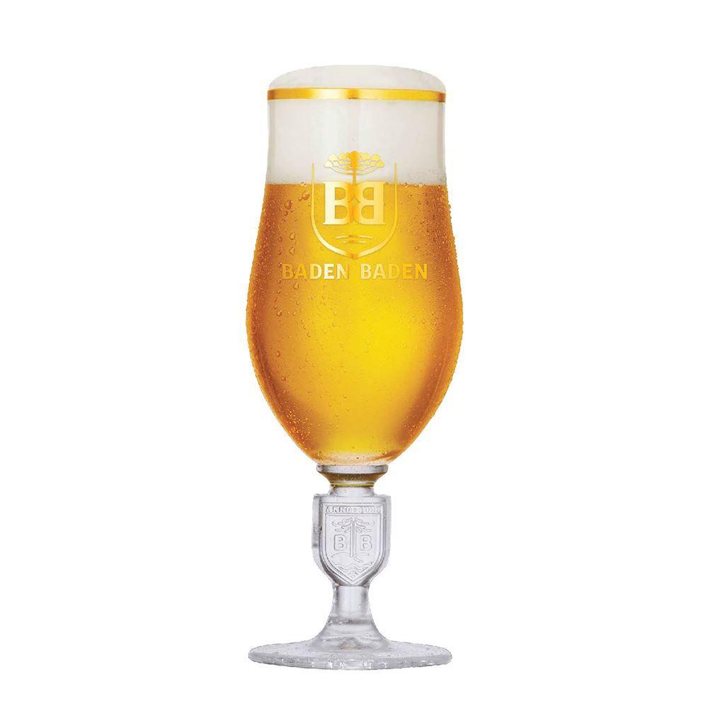 Taça de Cerveja Baden Baden Brasao Relevo Cristal 360ml