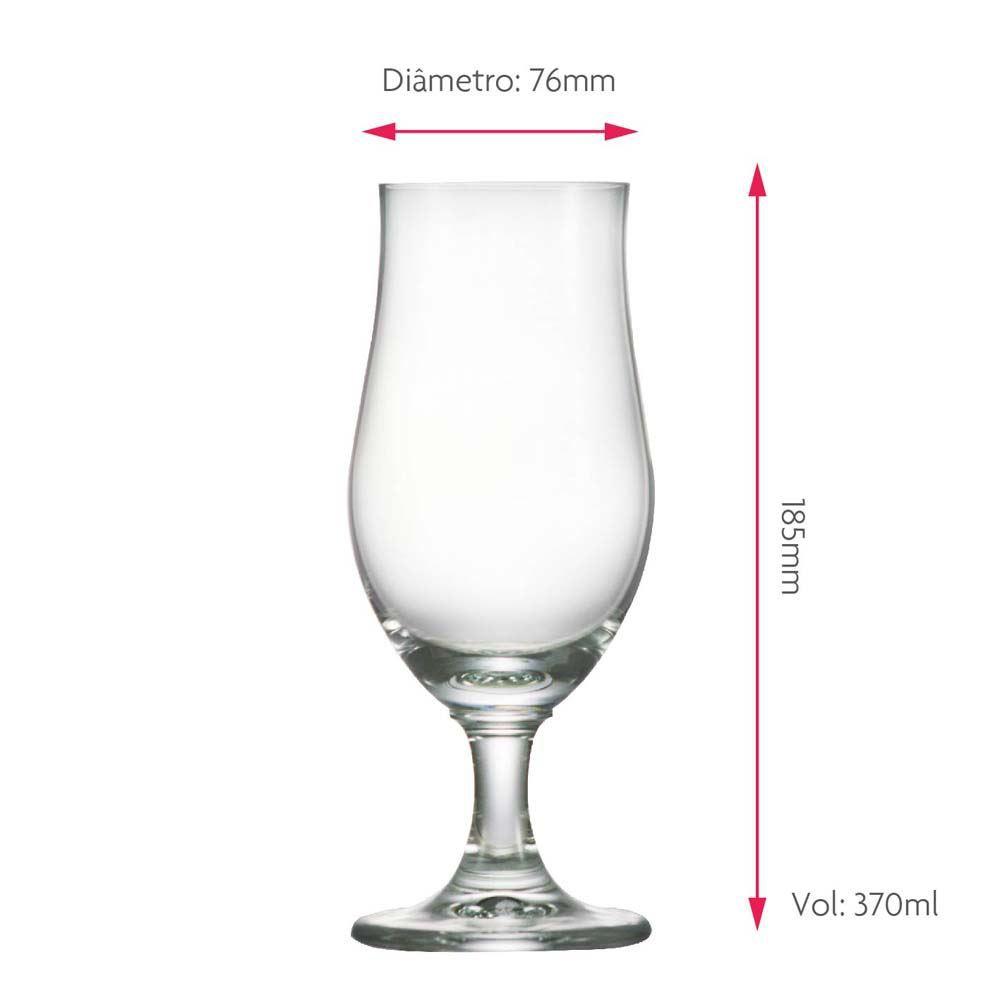 Taça de Cerveja Baden Baden Institucional Cristal 370ml