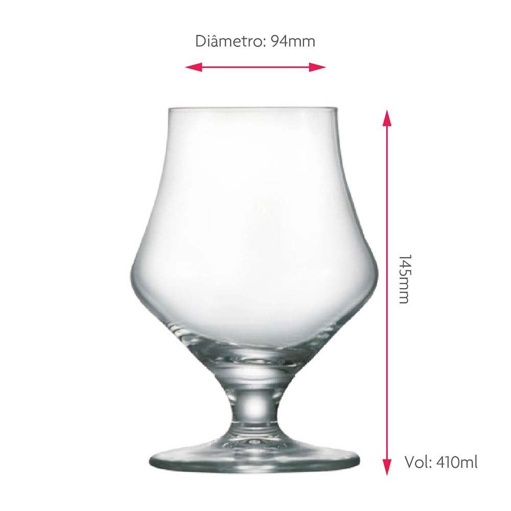 Taça de Cerveja Baden Baden Stout Cristal 410ml