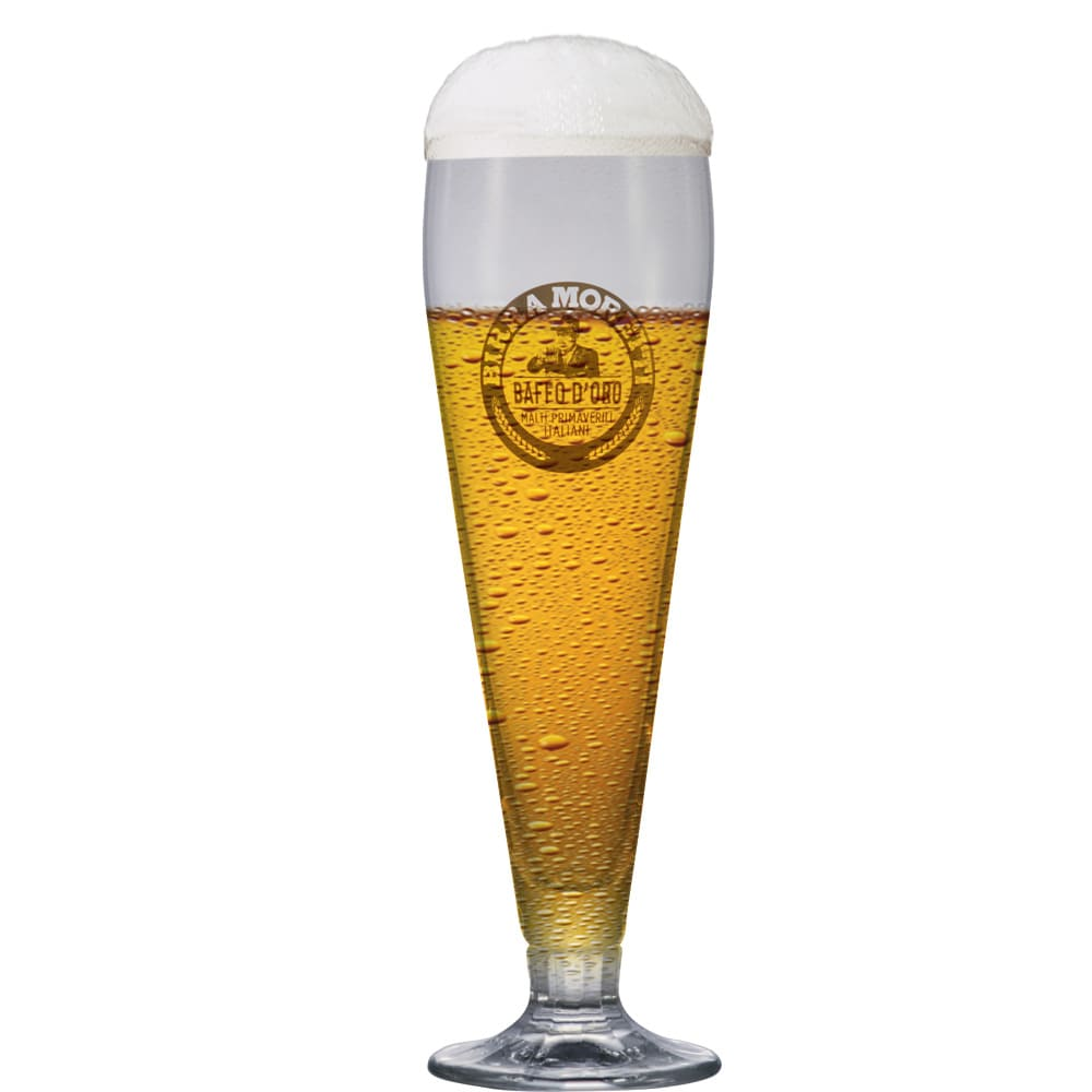 Taça de Cerveja Birra Moretti Baffo Doro 510ml