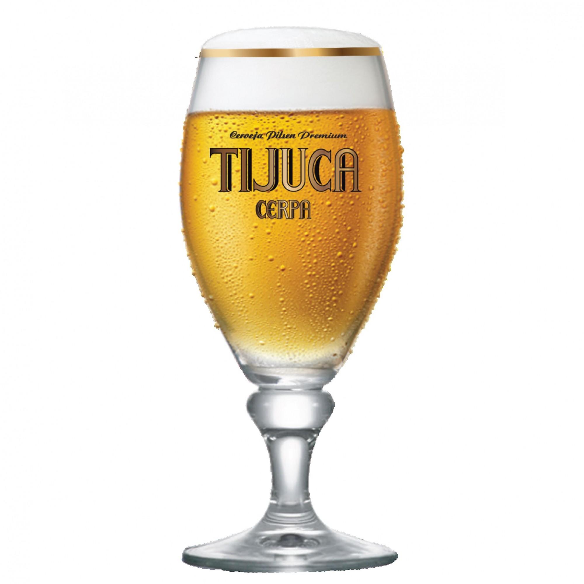 Taça de Cerveja Cerpa Tijuca Cristal 385ml