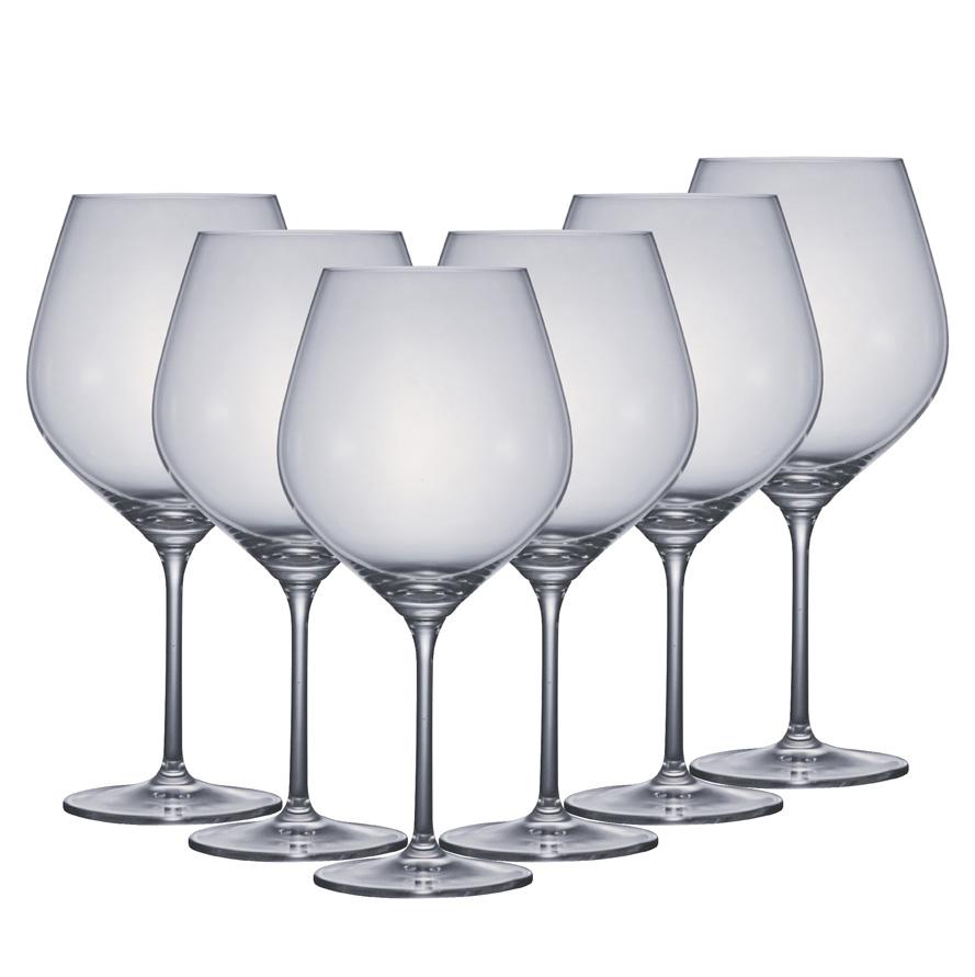 Taça de Cerveja Cristal Aspergo Burgundy 765ml 6pcs