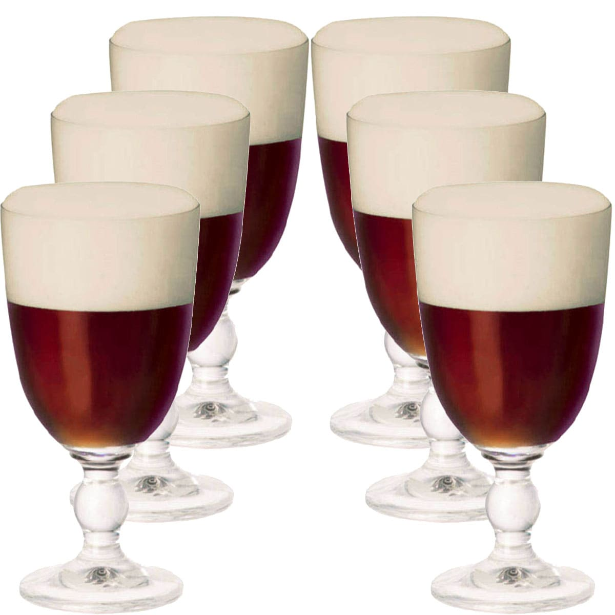 Taça de Cerveja de Cristal Globet Carolus 365ml 6 Pcs