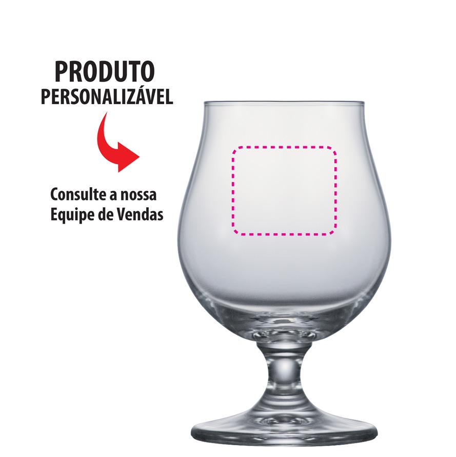 Taça de Cerveja de Cristal Sonora 400ml 4pcs