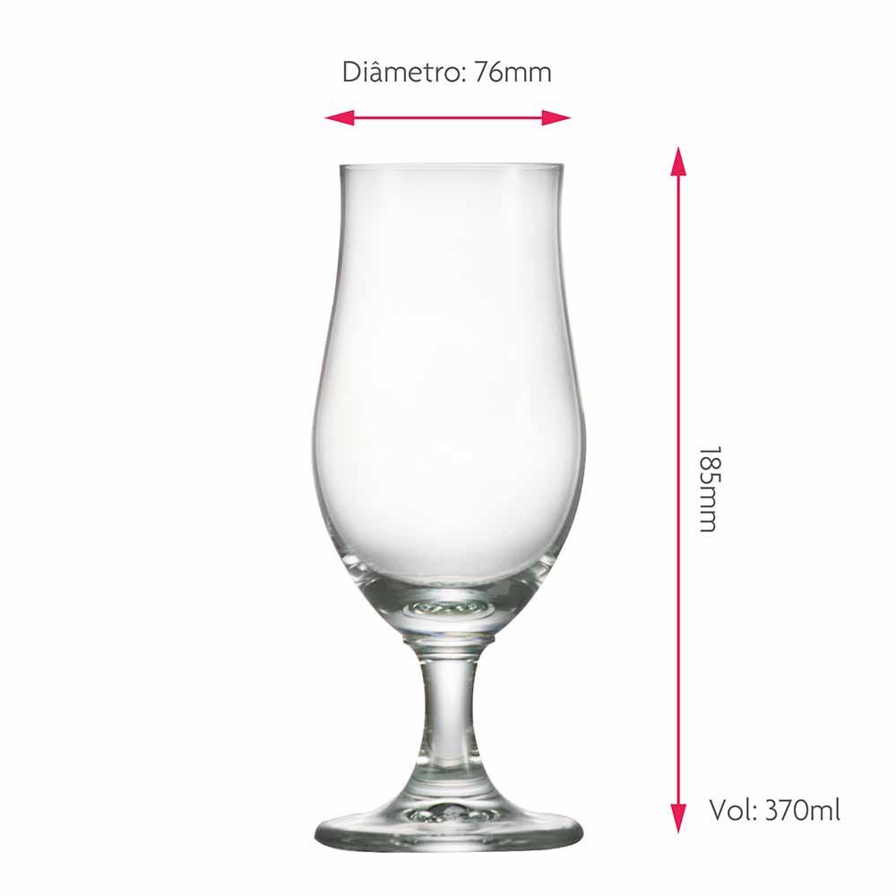 Taça de Cerveja Dado Bier Lager Cristal 370ml