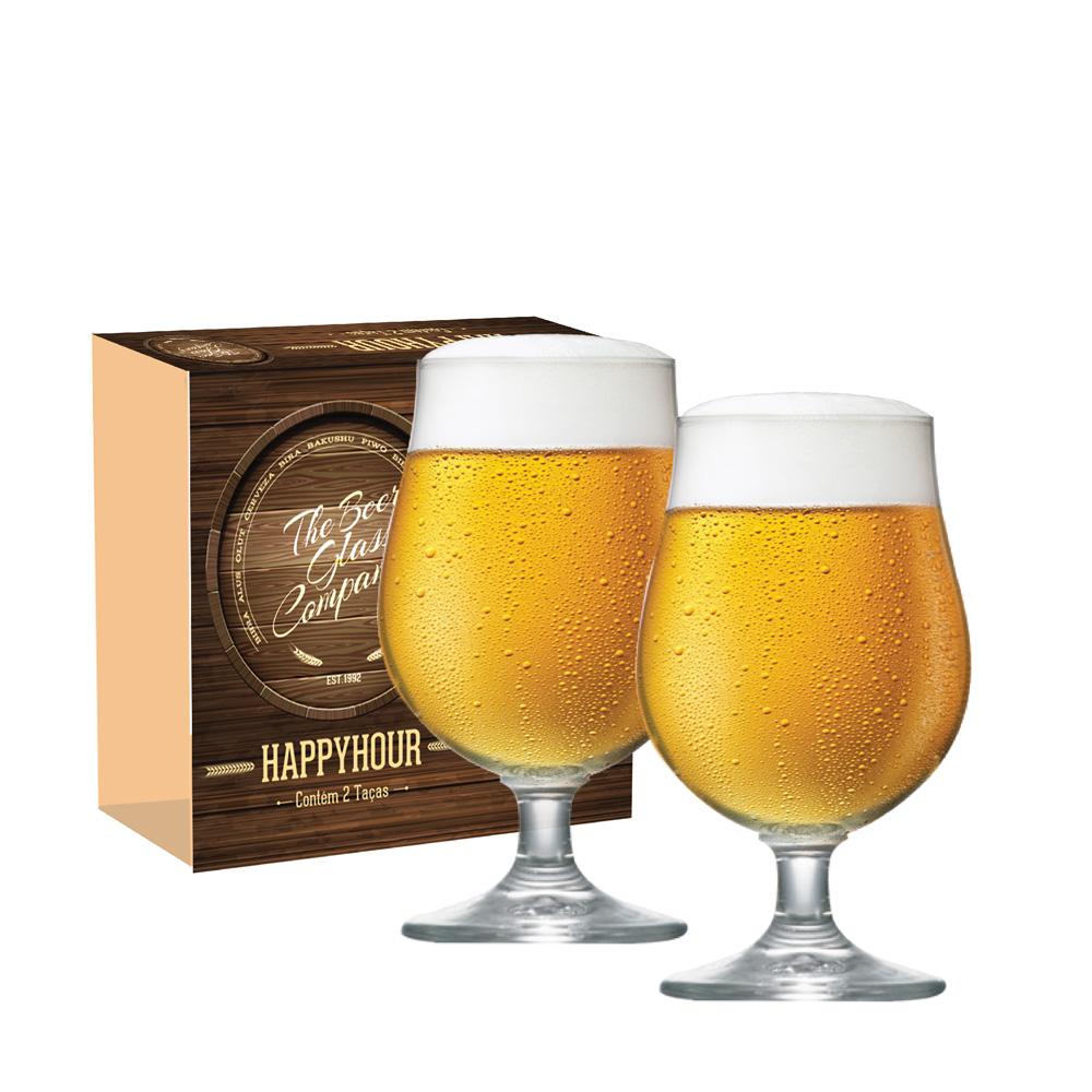 Taça de Cerveja de Cristal Bock 380ml 2 Pcs