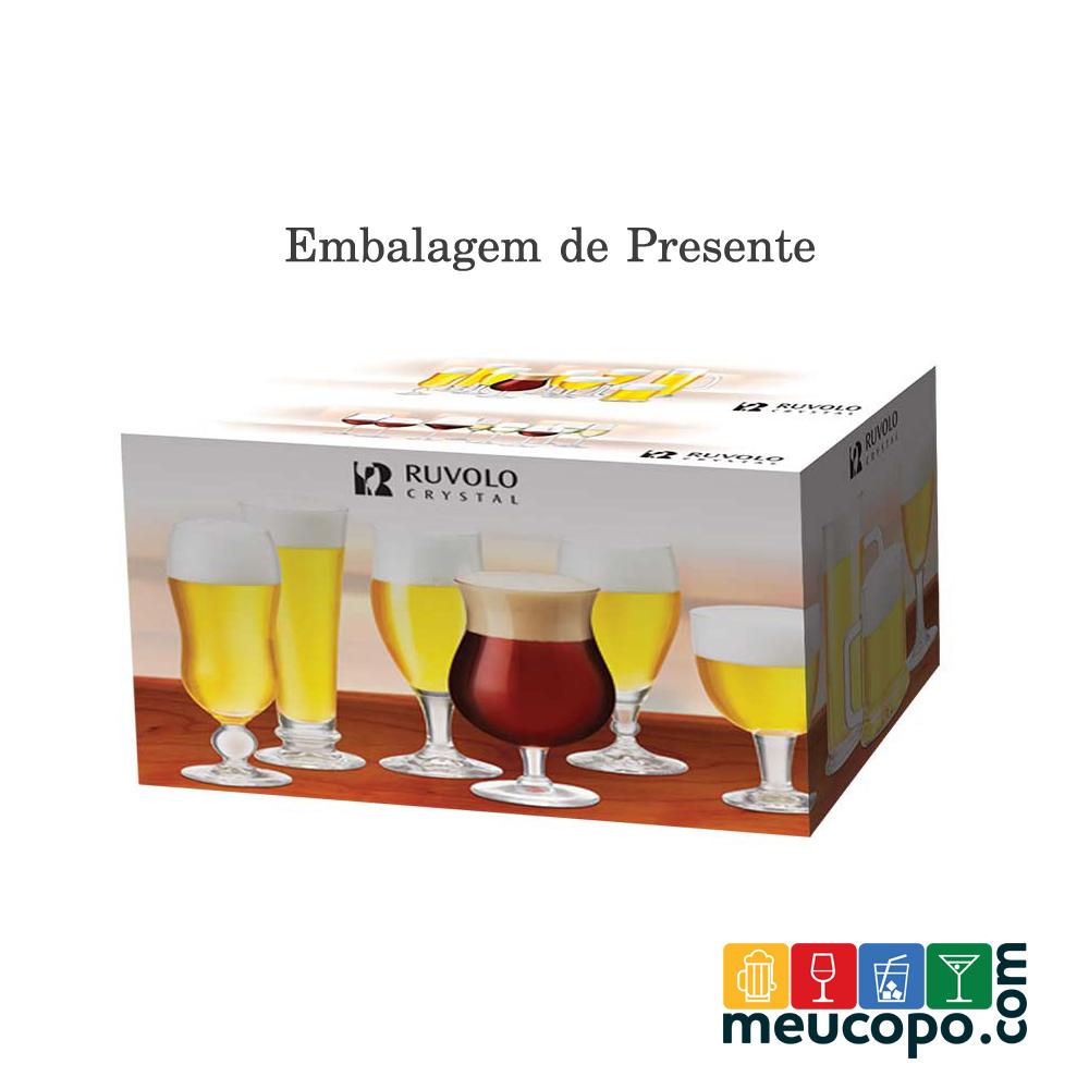Taça de Cerveja de Cristal Brinkhoffs 330ml 6 Pcs