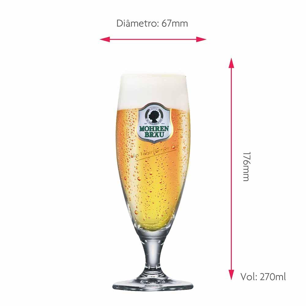 Taça de Cerveja de Cristal Rótulos Prestige Mohrel 270ml 2 Pcs