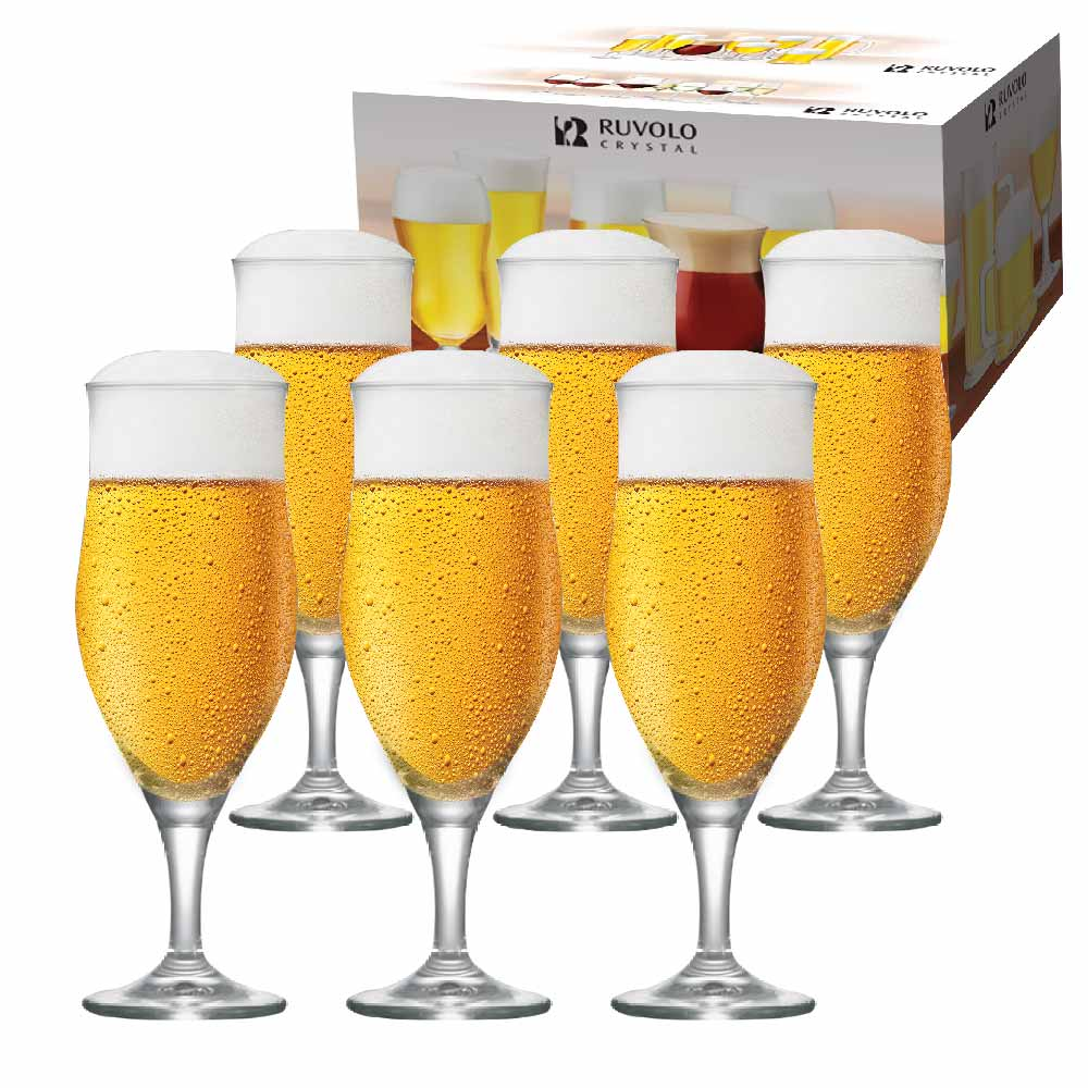 Taça de Cerveja de Cristal Lubzer GG 515ml 6 Pcs