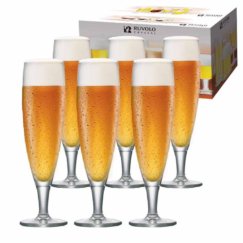 Taça de Cerveja de Cristal Sokata G 390ml 6 Pcs