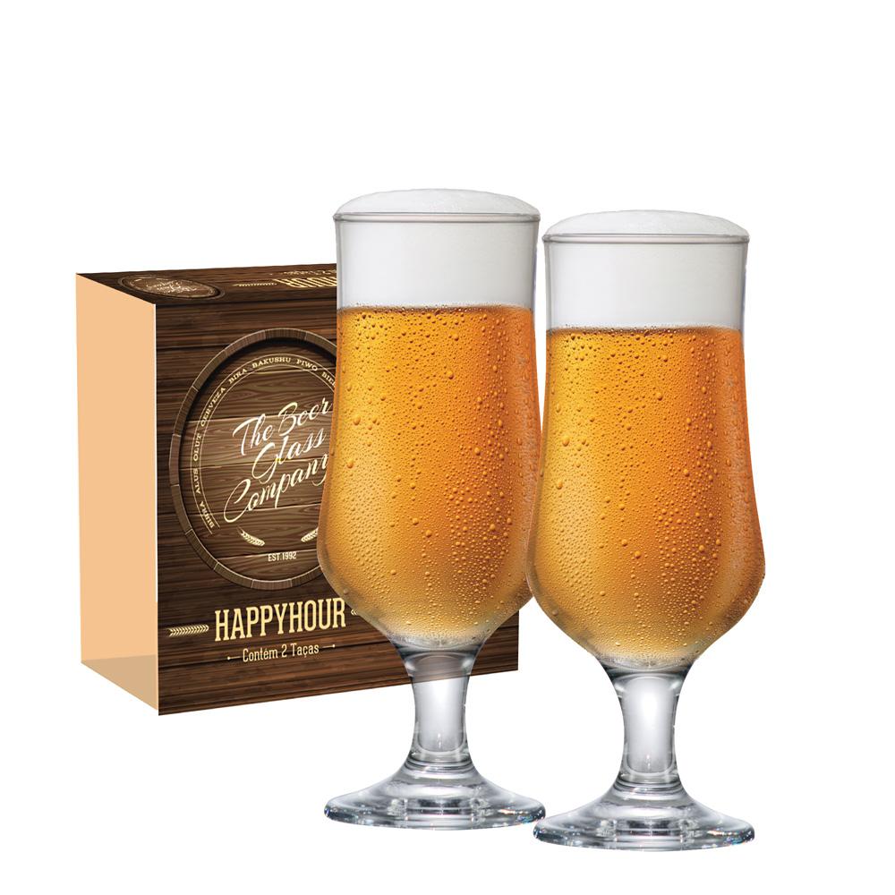 Taça de Cerveja de Vidro Barcelona G 370ml 4 Pcs