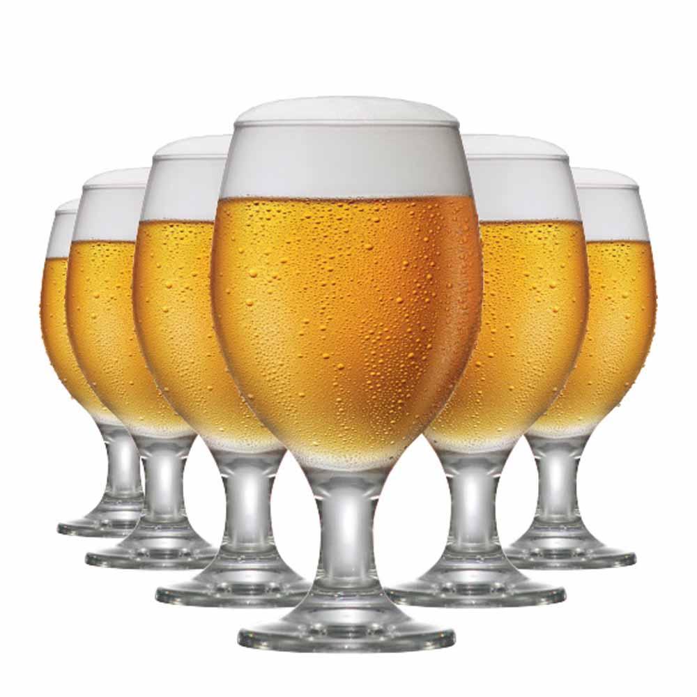 Taça de Cerveja  de Vidro Roma 400ml 6 Pcs
