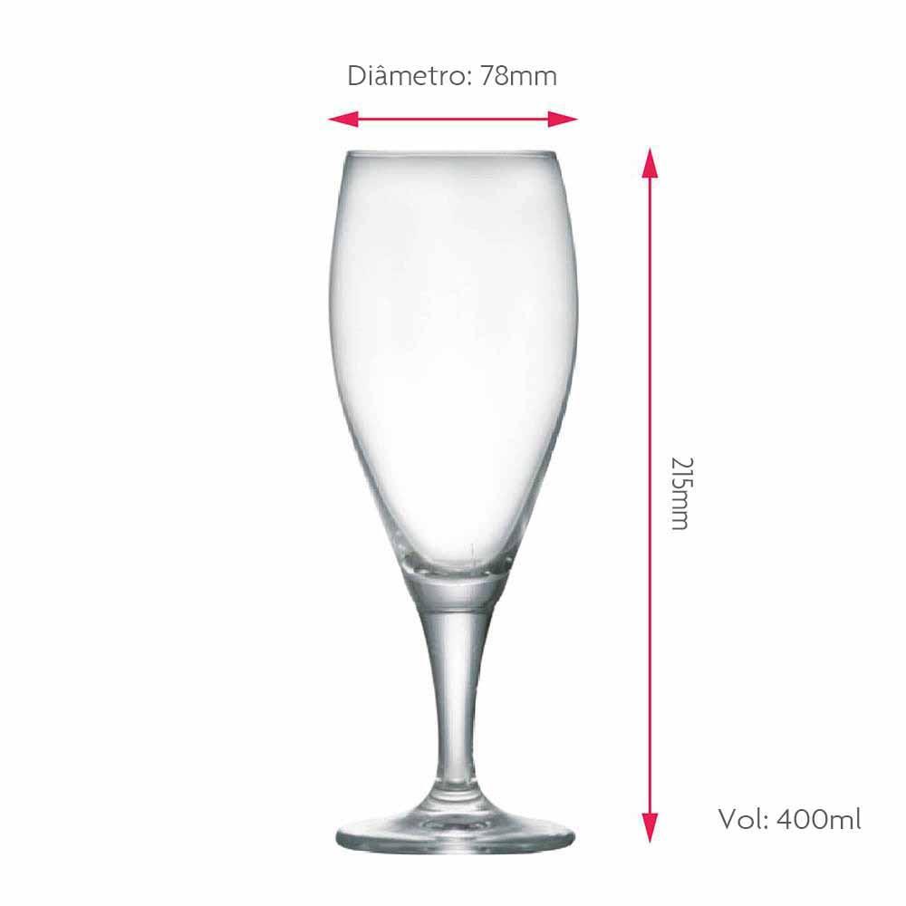 Taça de Cerveja Eisenbahn Cristal Institucional 400ml
