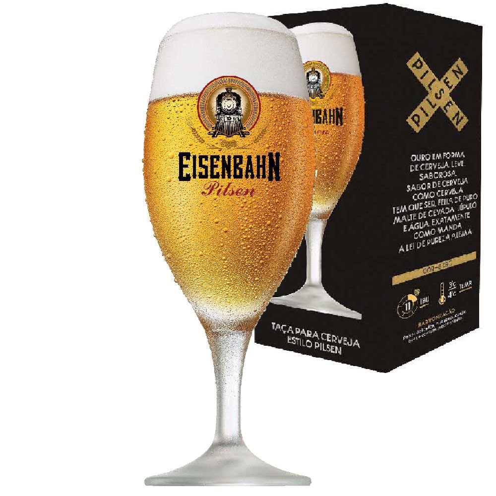 Taça de Cerveja Eisenbahn Pilsen de 400ml