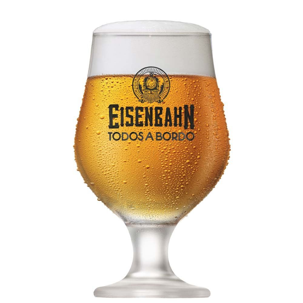 Taça de Cerveja Eisenbahn Vidro Beer Master 380ml