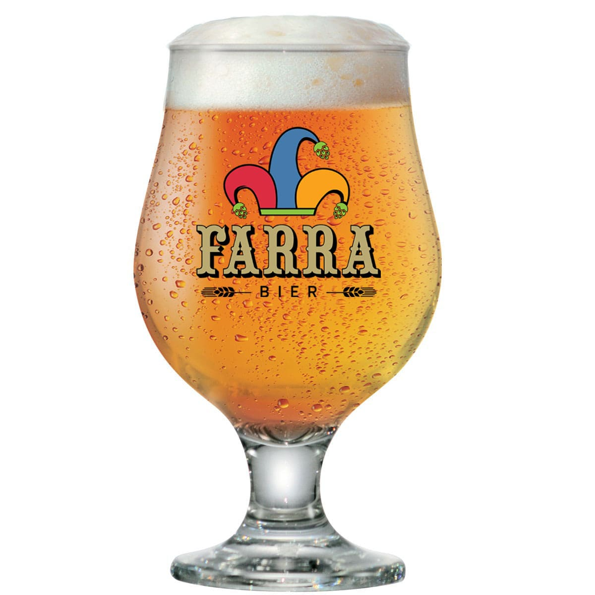 Taça de Cerveja FARRA Vidro Tulipa Beer Master 380ml