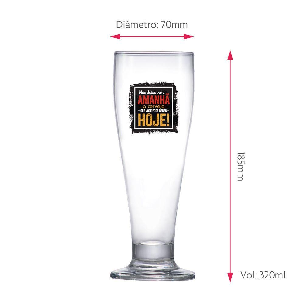 Taça de Cerveja Frases Cerveja Não Deixe Tulipa 320ml