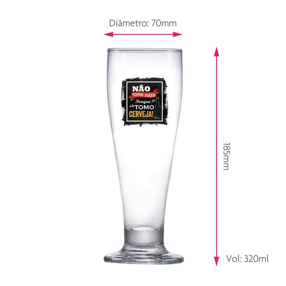 Taça de Cerveja Frases Engraçadas Não Tomo Tulipa 320ml