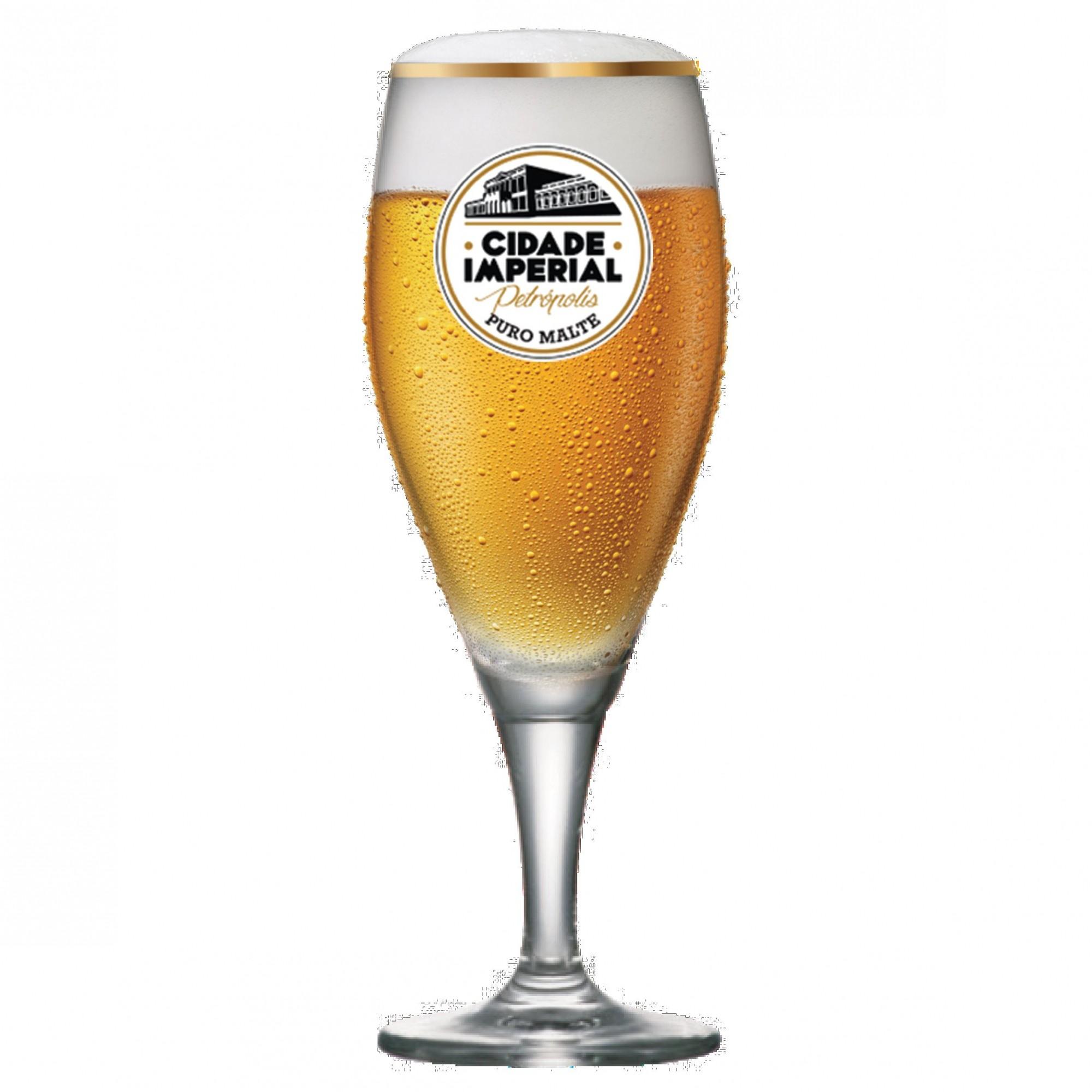 Taça de Cerveja Gourmet P Cidade Imperial Cristal 320ml