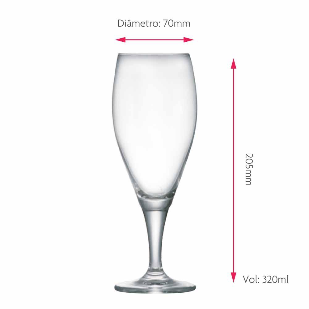 Taça de Cerveja de Cristal Gourmet P 320ml