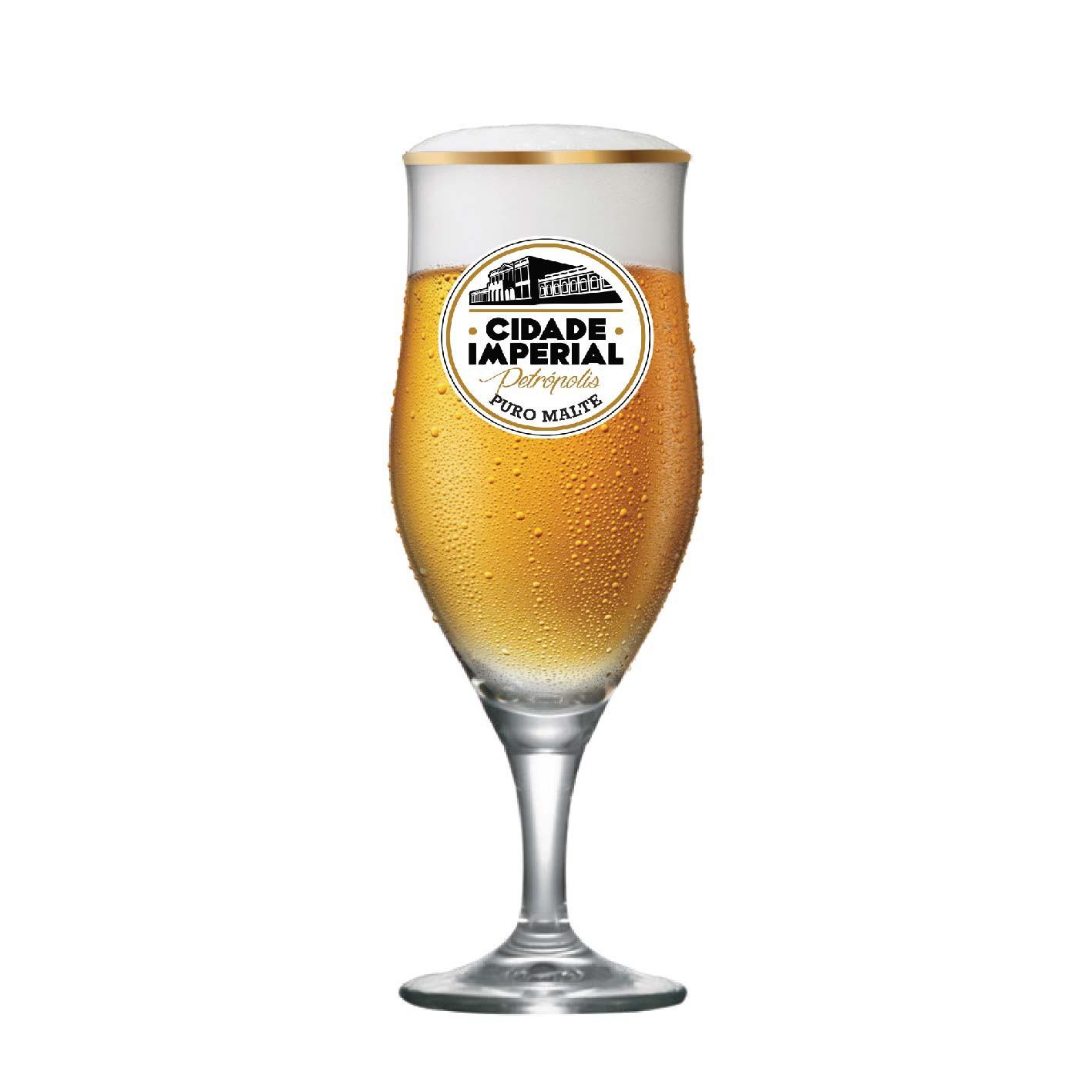 Taça de Cerveja Lubzer Cidade Imperial Cristal 260ml