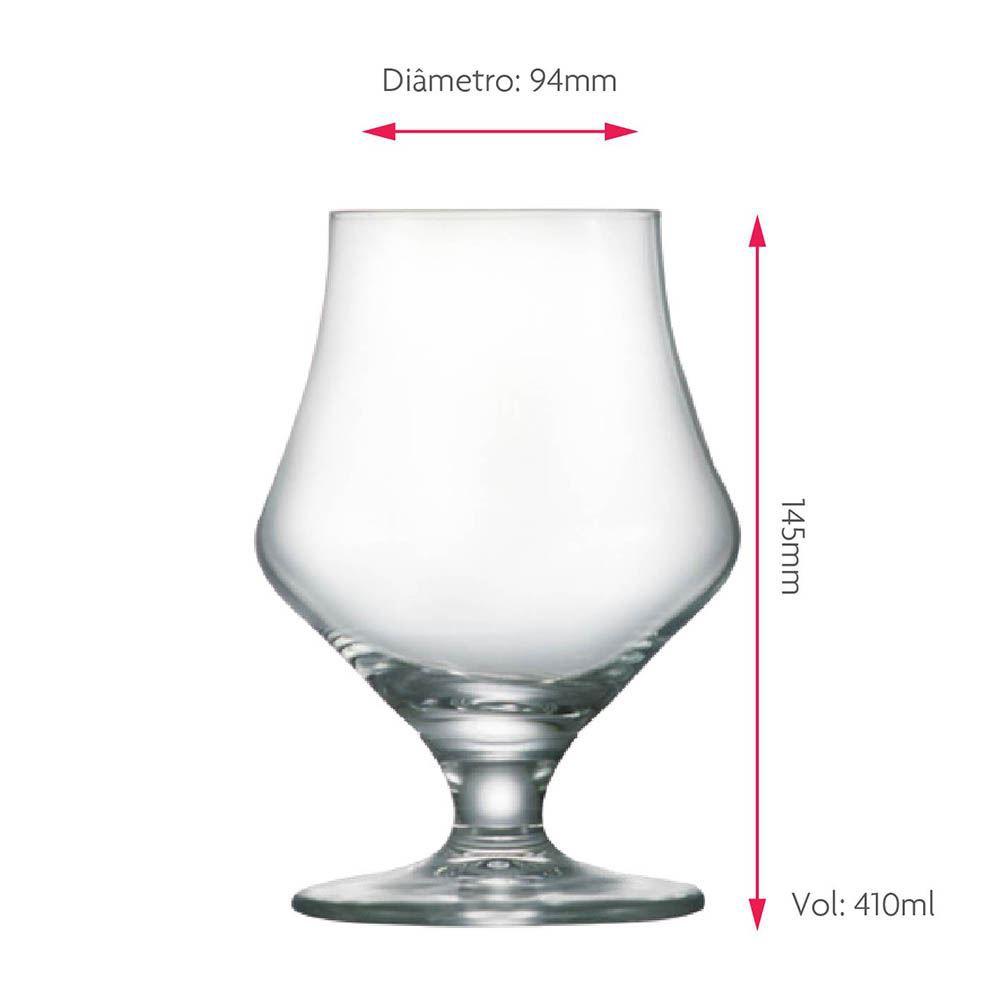 Taça de Cerveja de Cristal Maritim 410ml