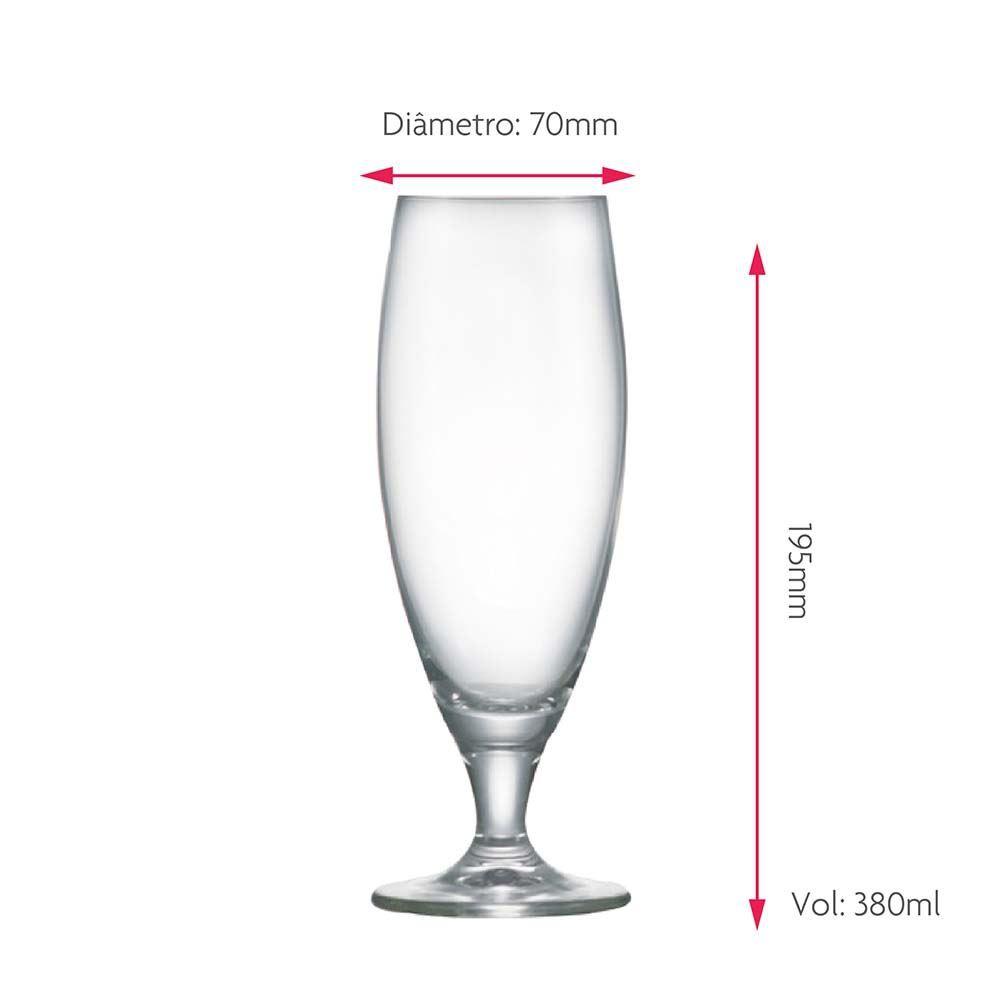 Taça de Cerveja Petra Aurum Cristal 380ml