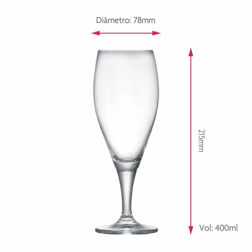 Taça de Cerveja Petra Stark Bier Cristal 400ml