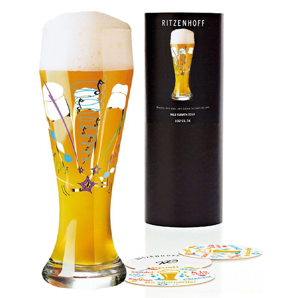 Taça de Cerveja Vidro Ritzenhoff Wheatbeer Christian  Westarp 2011 500ml