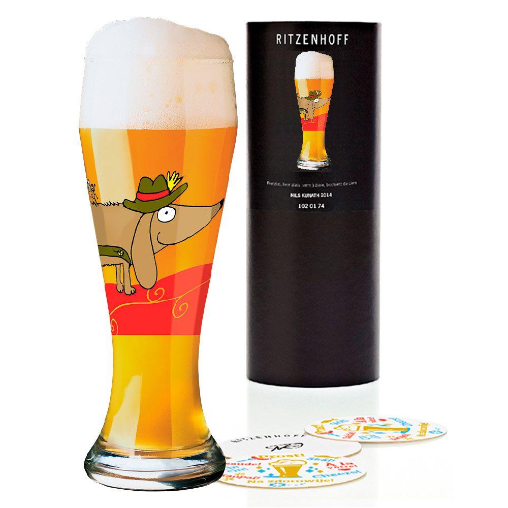 Taça de Cerveja Vidro Ritzenhoff Wheatbeer Sandra Glass Kretzmann 2004 500ml