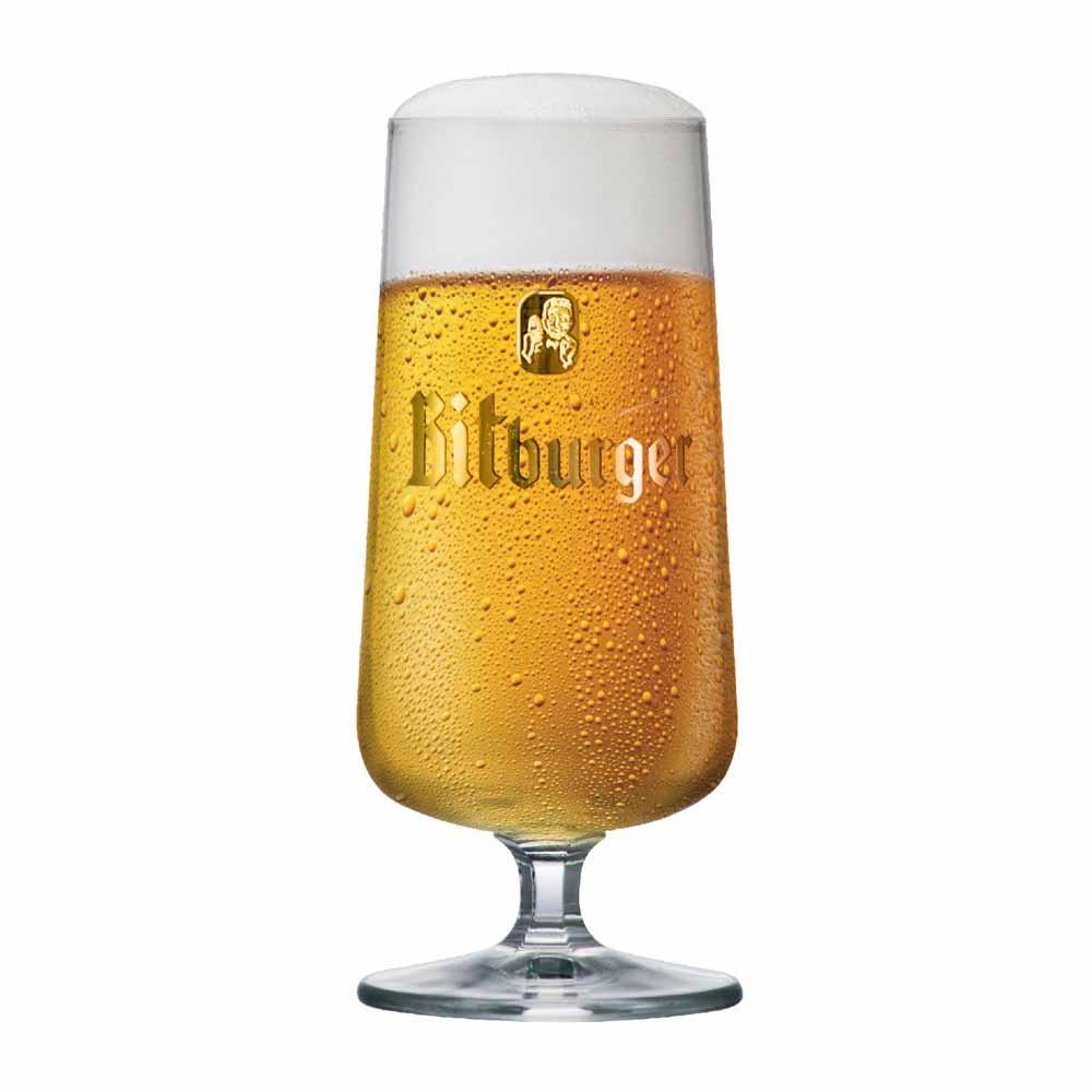 Taça de Cerveja Rótulo Frases Bitburger Cristal 370ml