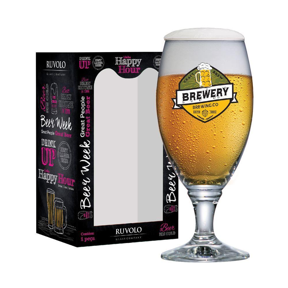Taça de Cerveja Rótulo Frases Brewery Sevilla G 530ml