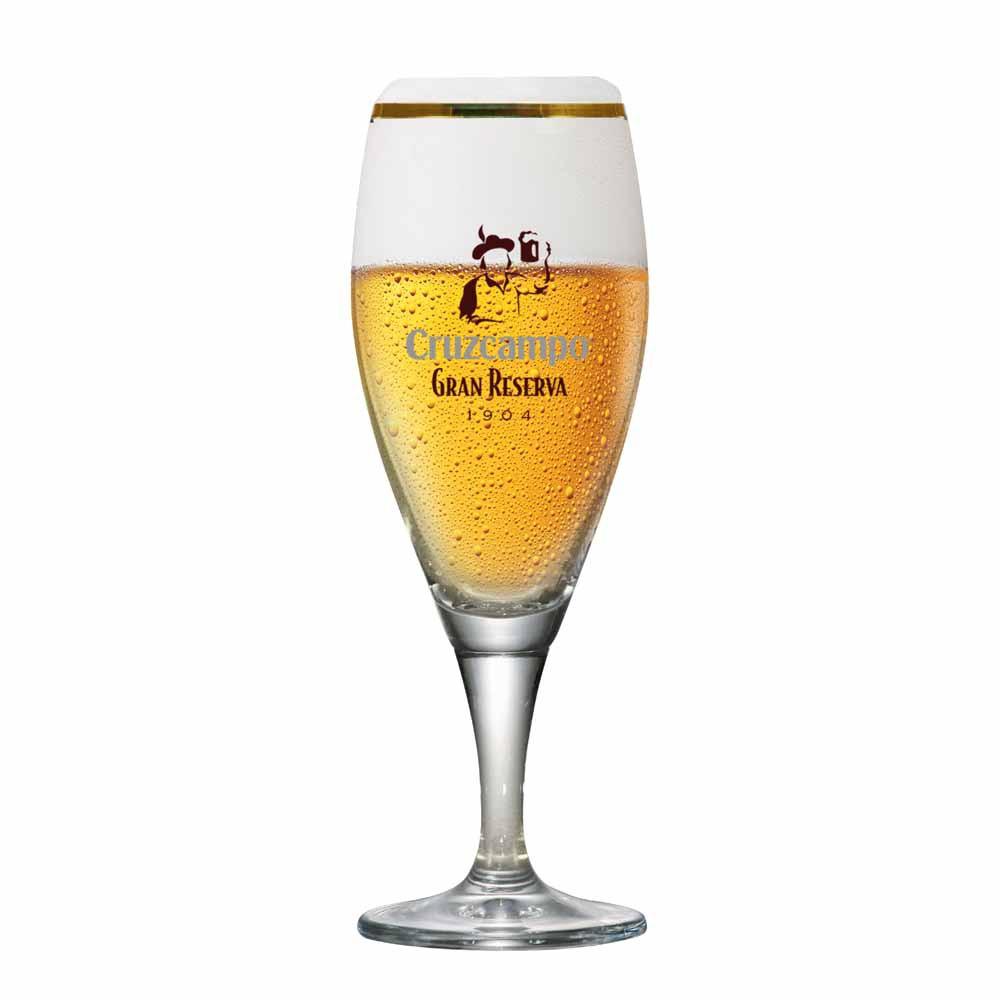 Taça de Cerveja Rótulo Frases Cruzcampo Cristal 400ml