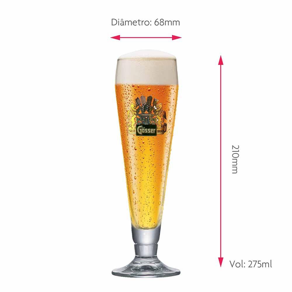 Taça de Cerveja Rótulo Frases Ferrara Pokal Cristal 275ml
