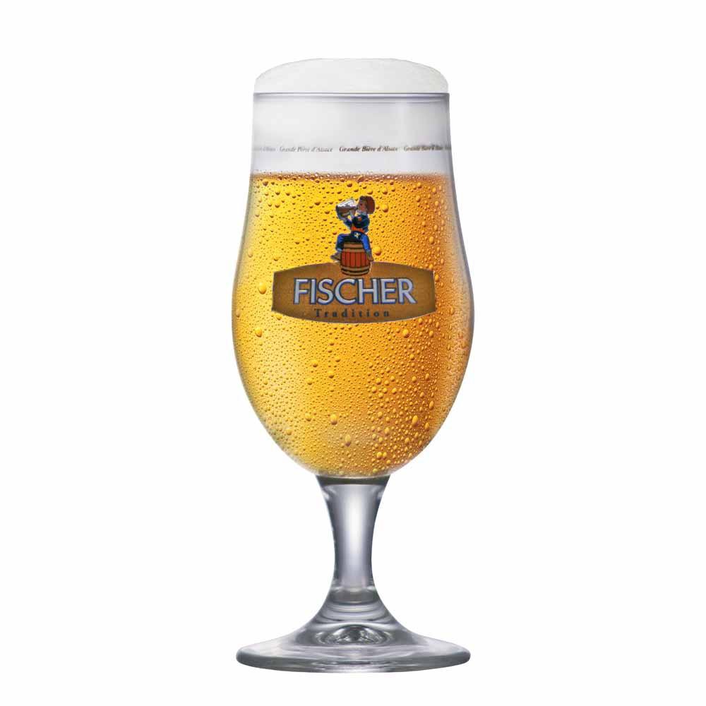 Taça de Cerveja Rótulo Frases Fischer Cristal 350ml